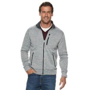 B2G1 Sonoma Heather Gray Supersoft Fleece Jacket